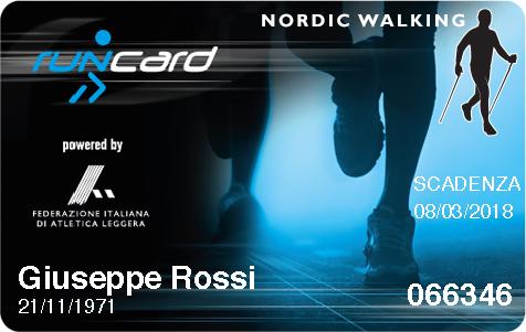 Disponibile la nuova RunCard Nordic Walking per il tesseramento Fidal per la possibilità di partecipazione al circuito