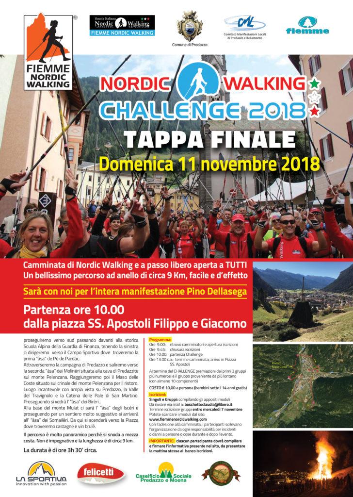 Nordic Walking Challenge 2018 Tappa Finale a Predazzo